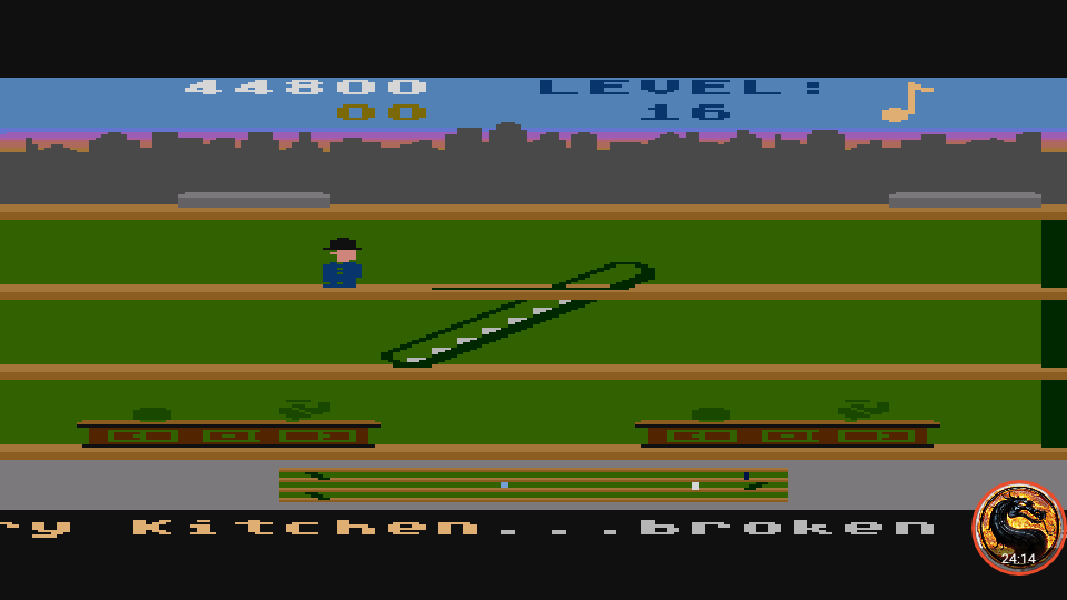 omargeddon: Keystone Kapers: Skill 9 (Atari 400/800/XL/XE Emulated) 44,800 points on 2019-03-06 19:23:19