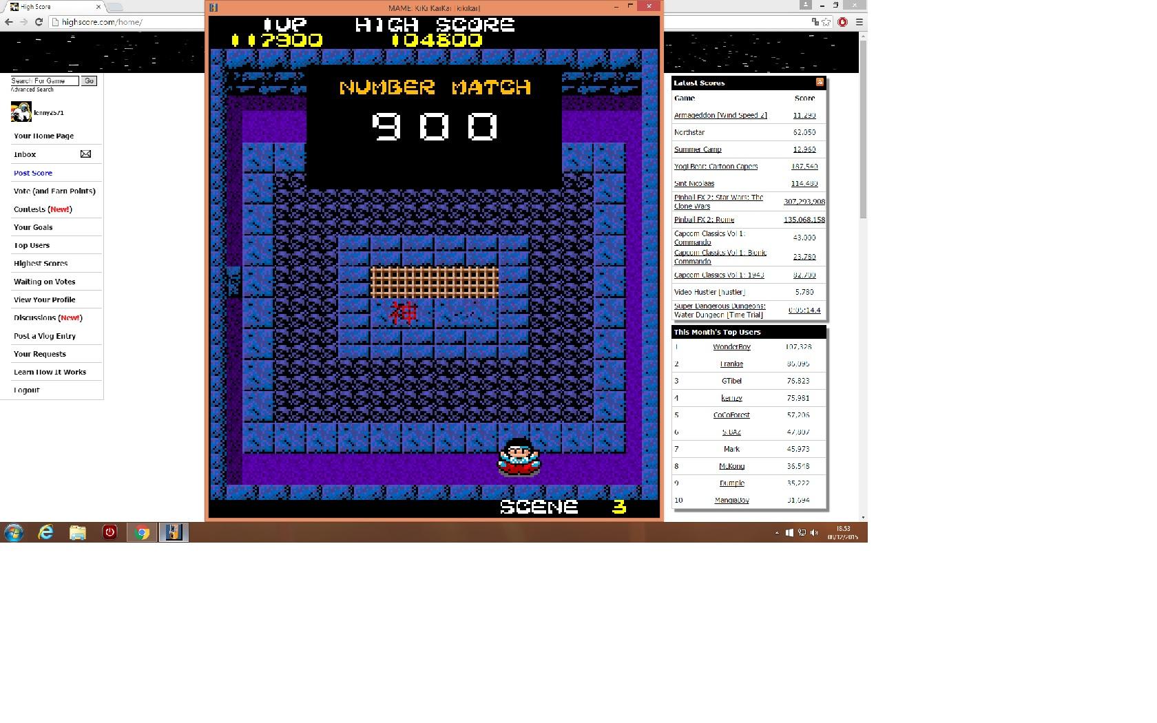 lenny2571: KiKi KaiKai [kikikai] (Arcade Emulated / M.A.M.E.) 117,900 points on 2015-12-08 11:56:07