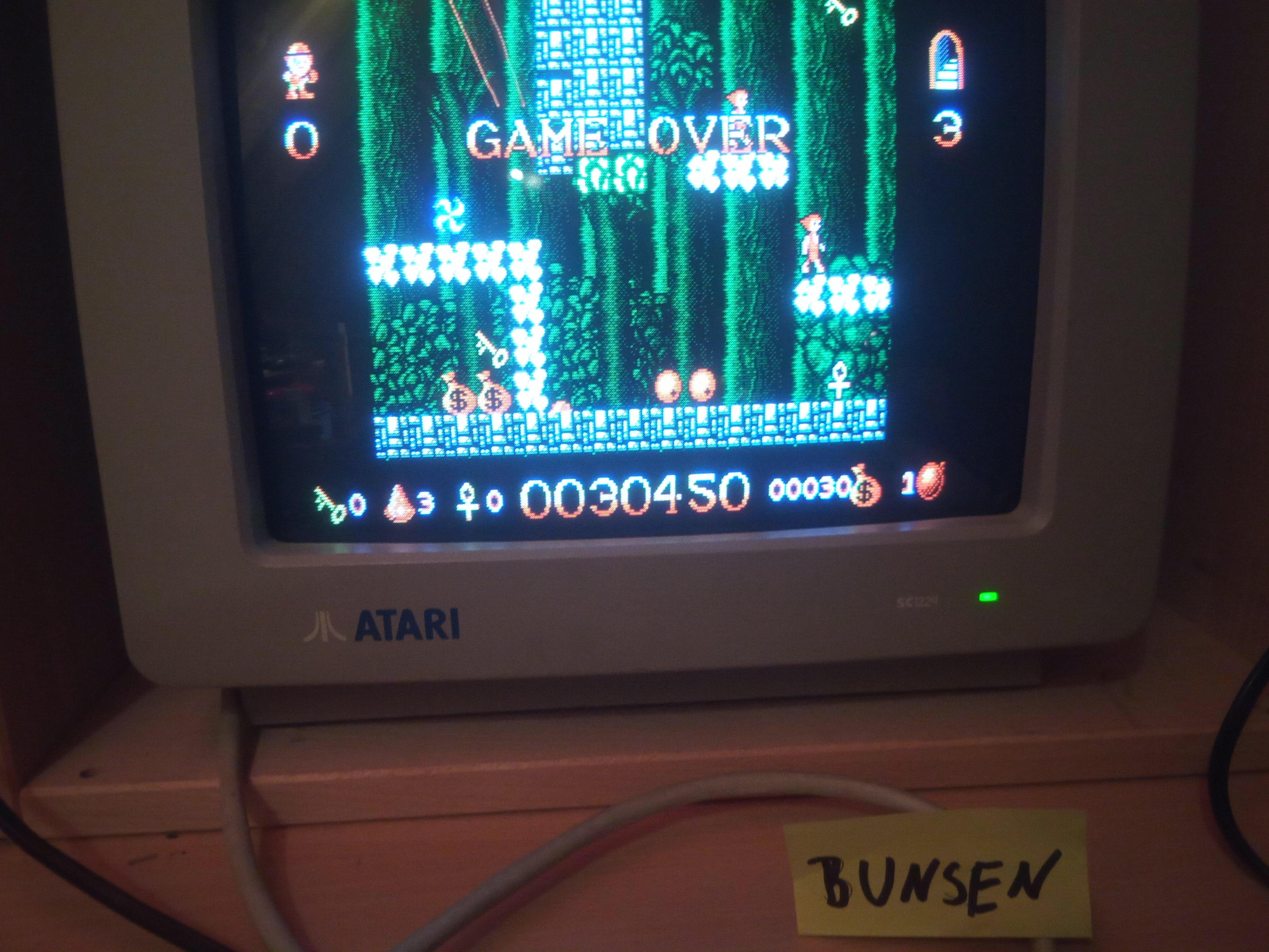 Bunsen: Kid Gloves (Atari ST) 30,450 points on 2019-12-27 15:59:25