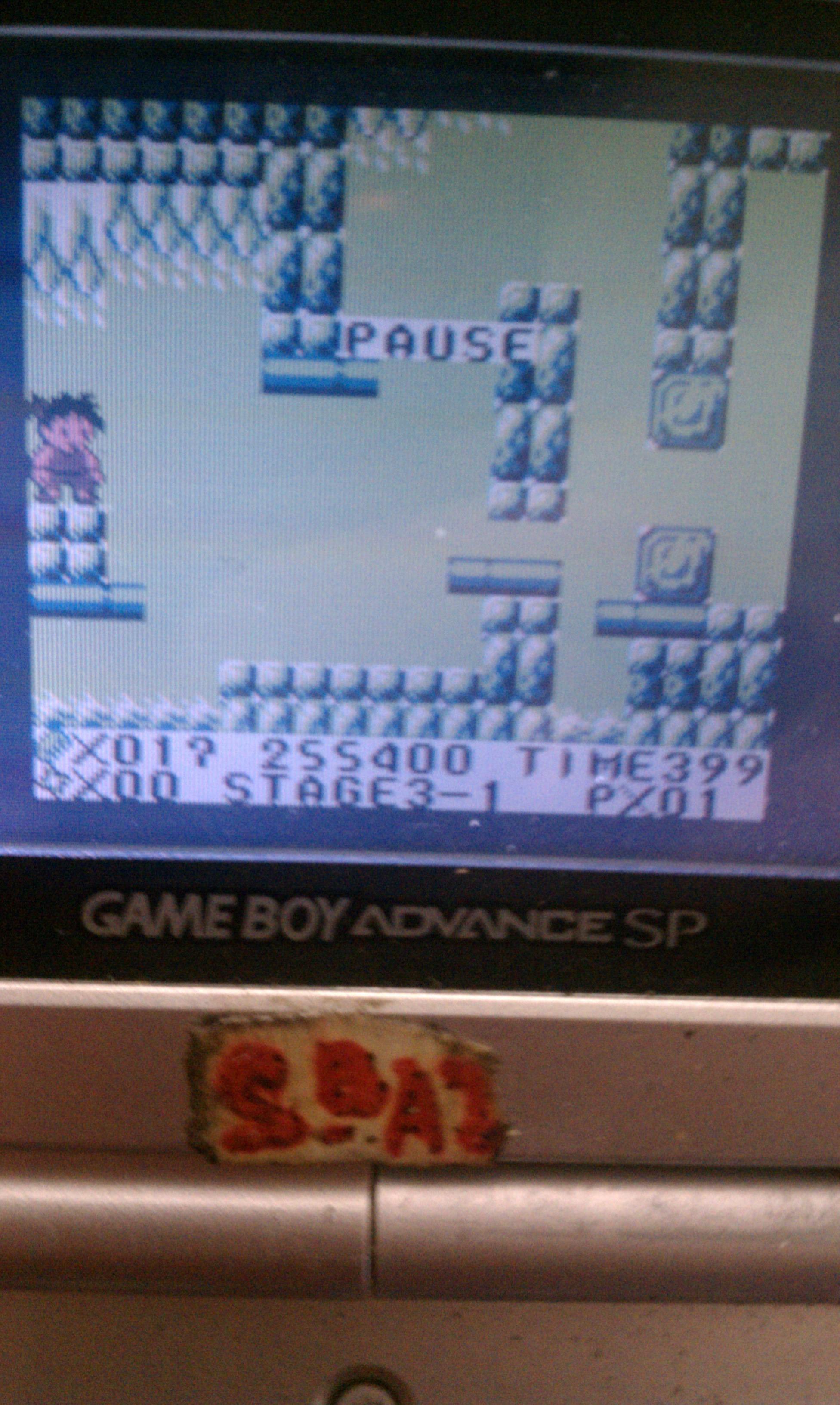 S.BAZ: Kid Niki (Game Boy) 255,400 points on 2020-03-28 07:15:01