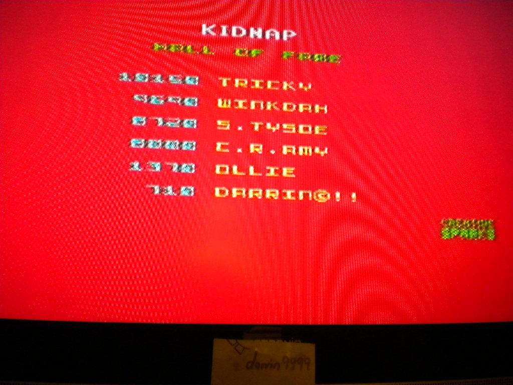 Kidnap [[Babies Saved * 10,000] + Score] 710 points
