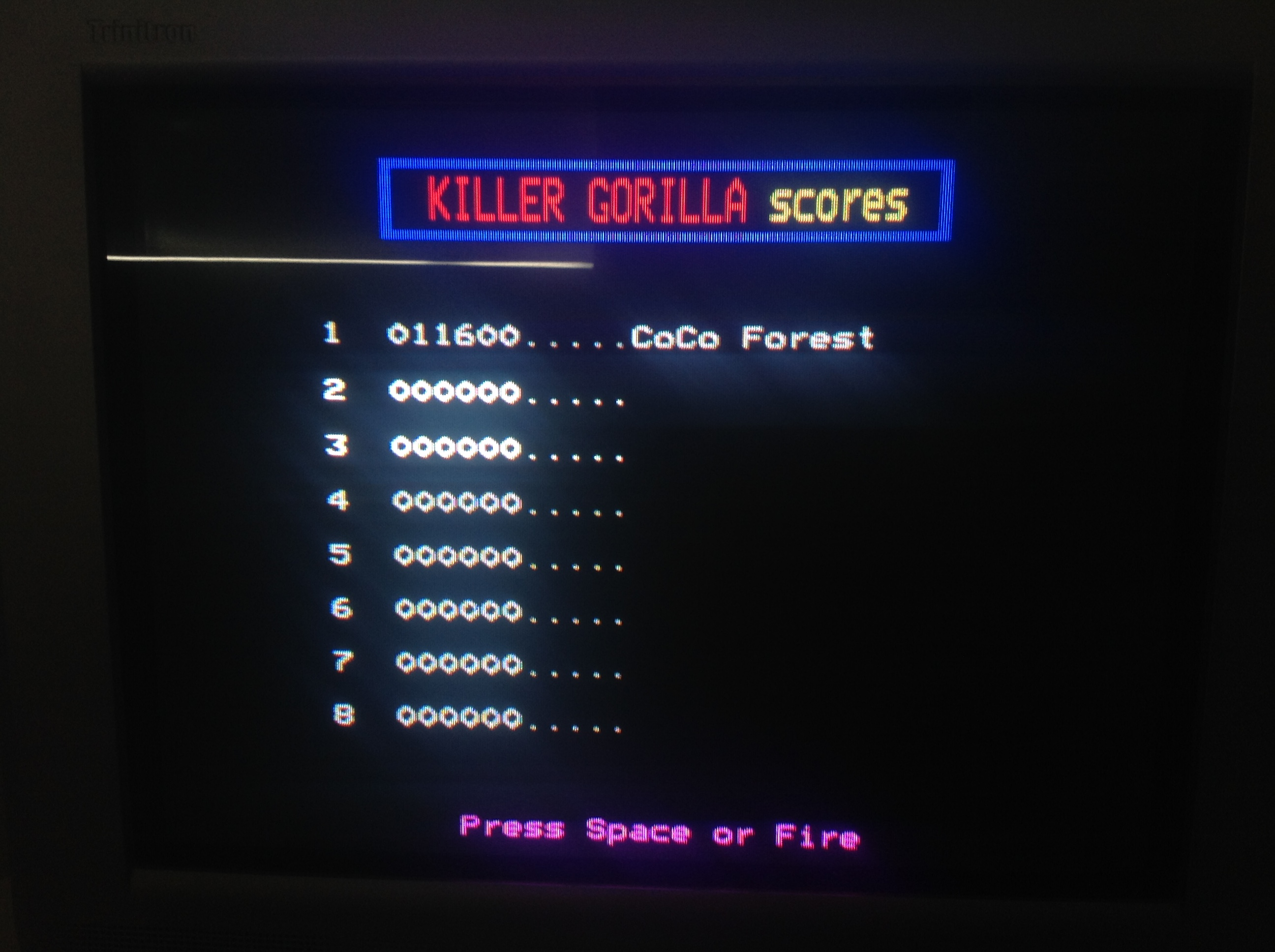 CoCoForest: Killer Gorilla (BBC Micro) 11,600 points on 2018-07-02 07:40:10