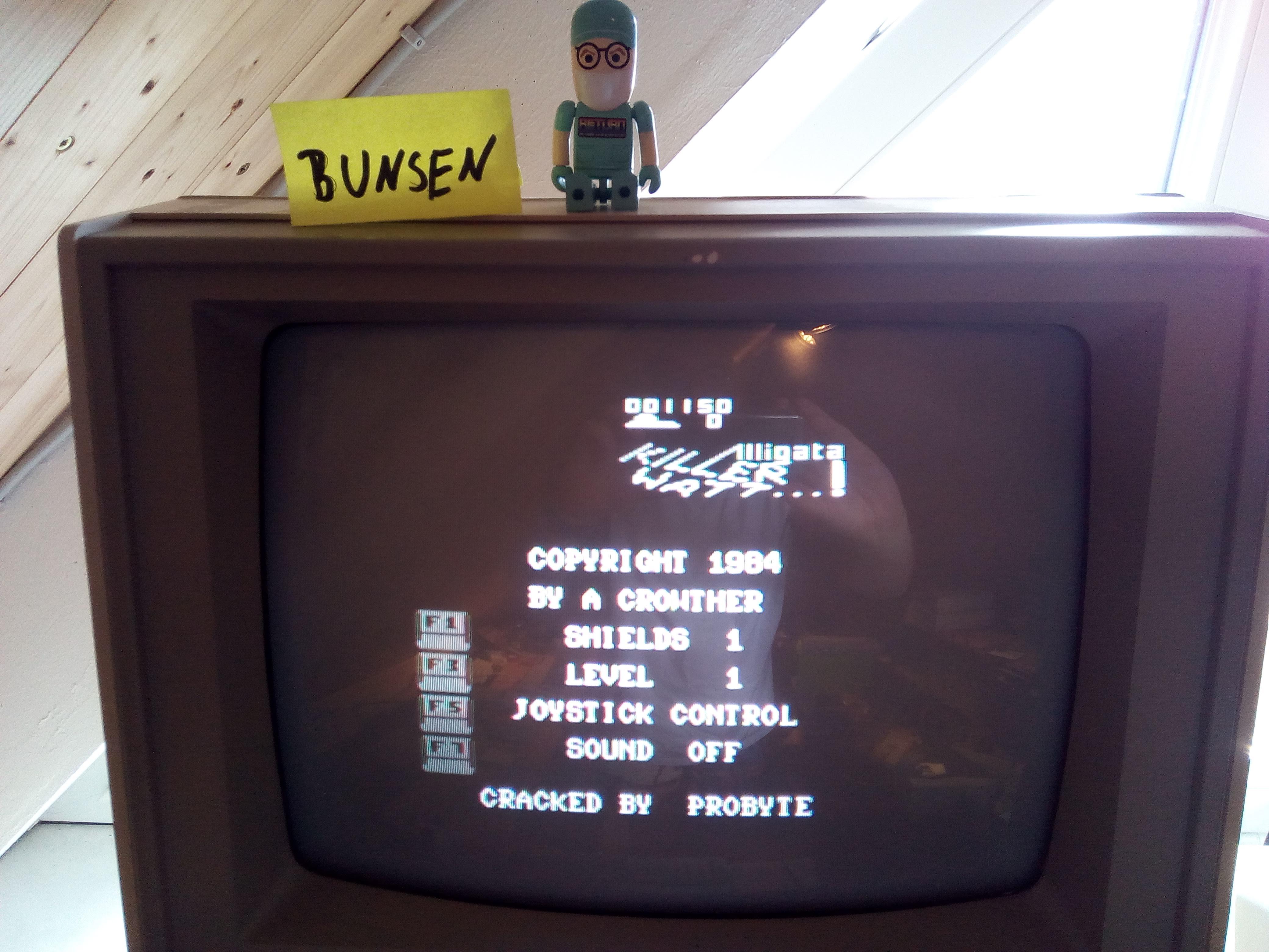Bunsen: Killerwatt: Level 1 Start (Commodore 64) 1,150 points on 2018-11-18 12:33:48