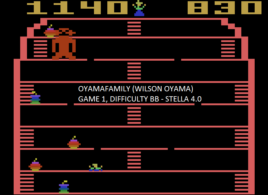 oyamafamily: King Kong (Atari 2600 Emulated Novice/B Mode) 1,140 points on 2015-08-22 19:27:37