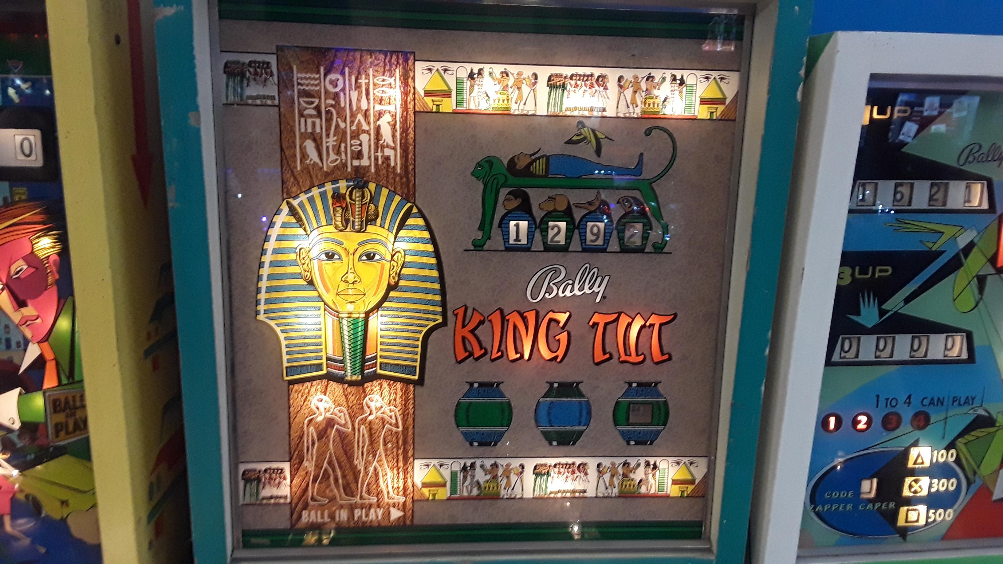JML101582: King Tut (Pinball: 3 Balls) 1,292 points on 2019-11-24 17:00:10