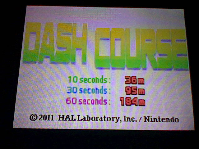 Kirby Mass Attack: Dash Course: 60 Sec. 184 points