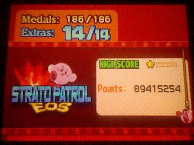 Kirby Mass Attack: Strato Patrol EOS 89,415,254 points