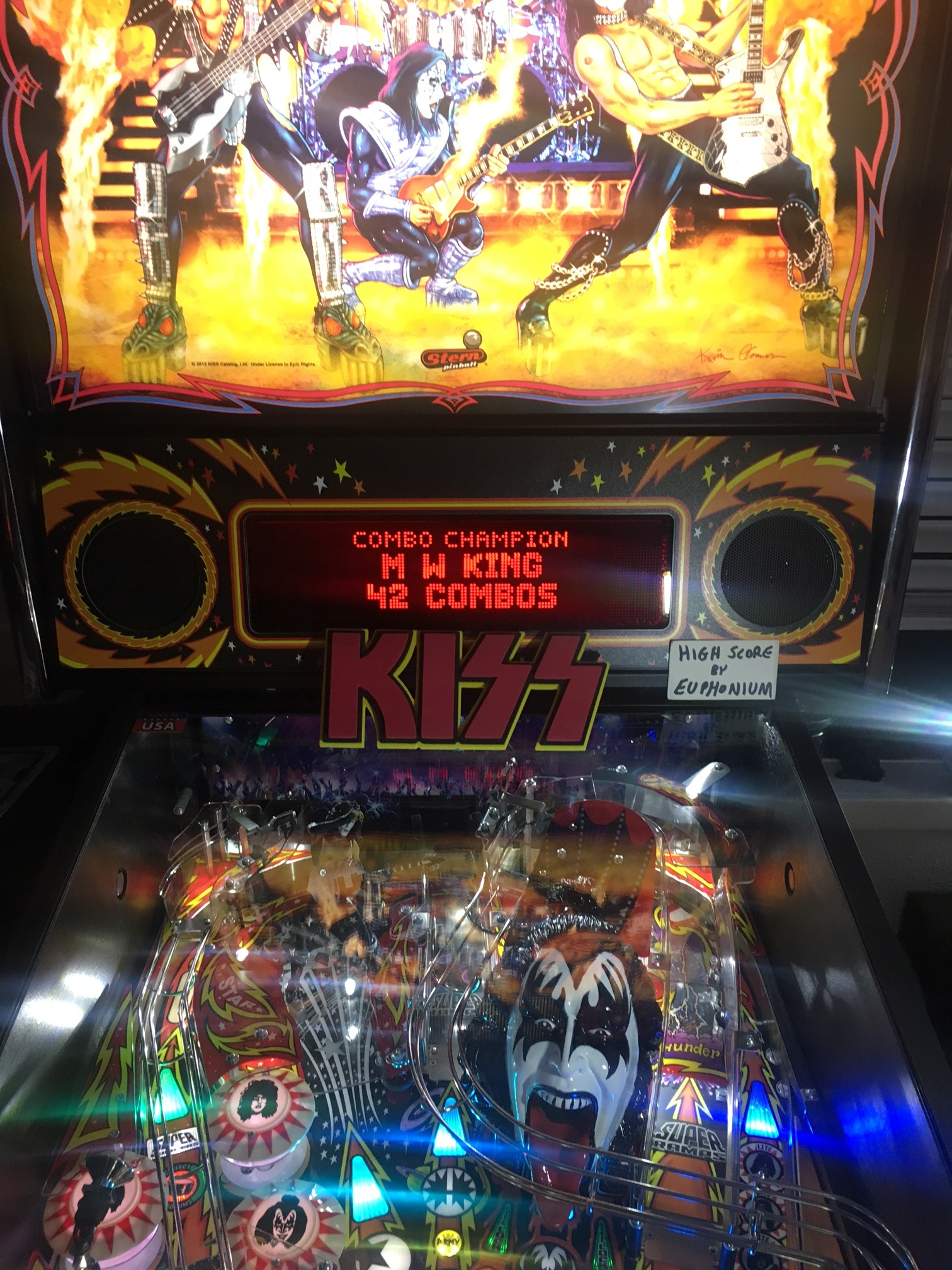 Kiss [Stern Pinball]: Combo Champion 42 points
