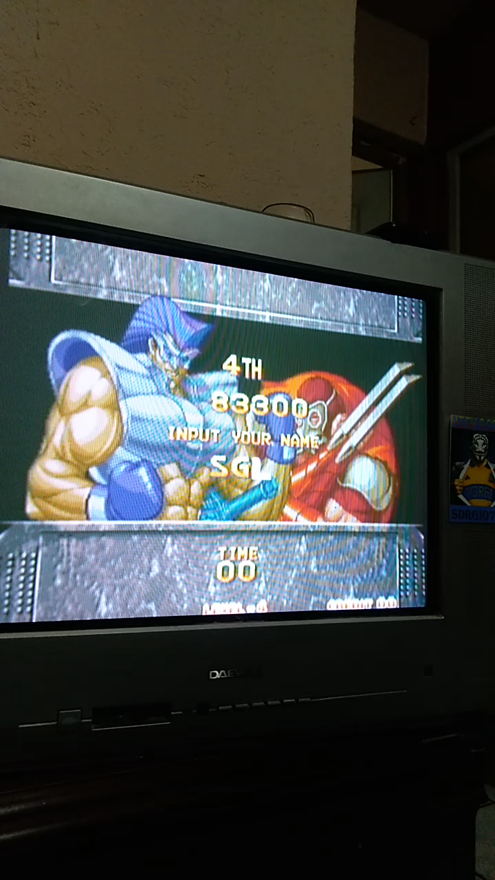 Sdrgio797: Kizuna Encounter (Neo Geo Emulated) 83,300 points on 2020-08-02 01:20:16