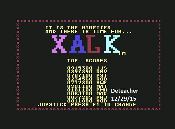 Deteacher: Klax (Commodore 64 Emulated) 77,205 points on 2015-12-29 14:21:21