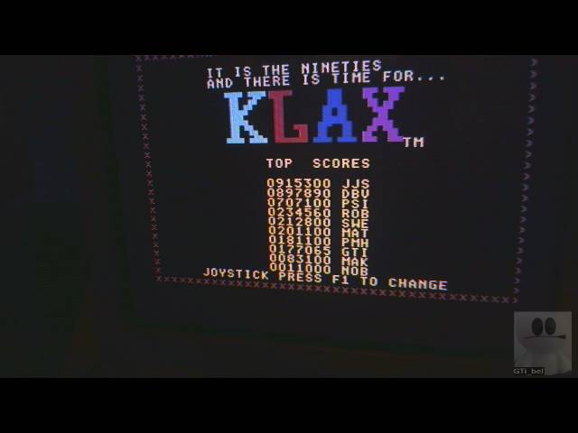 GTibel: Klax (Commodore 64) 177,065 points on 2019-03-05 11:30:24