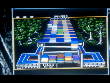 S.BAZ: Klax: Easy [Level 01 Start] (Atari 7800 Emulated) 244,955 points on 2016-02-11 03:41:52
