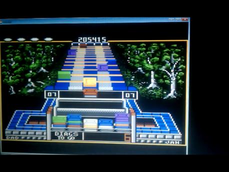 S.BAZ: Klax: Easy [Level 06 Start] (Atari 7800 Emulated) 205,415 points on 2016-02-11 03:33:26