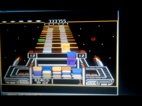 S.BAZ: Klax: Easy [Level 11 Start] (Atari 7800 Emulated) 333,755 points on 2016-02-11 03:36:17