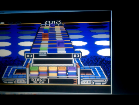 S.BAZ: Klax: Hard [Level 01 Start] (Atari 7800 Emulated) 243,125 points on 2016-02-18 03:56:56