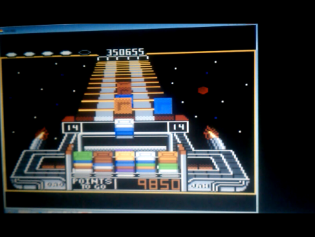S.BAZ: Klax: Normal [Level 11 Start] (Atari 7800 Emulated) 350,655 points on 2016-02-11 04:47:35