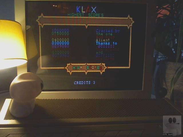 GTibel: Klax [Wave 1 Start] (Atari ST) 239,080 points on 2019-11-28 06:03:00