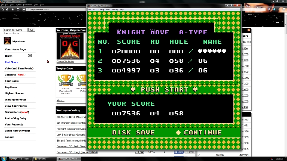OriginalGamer: Knight Move (NES/Famicom Emulated) 7,536 points on 2016-06-30 16:39:16
