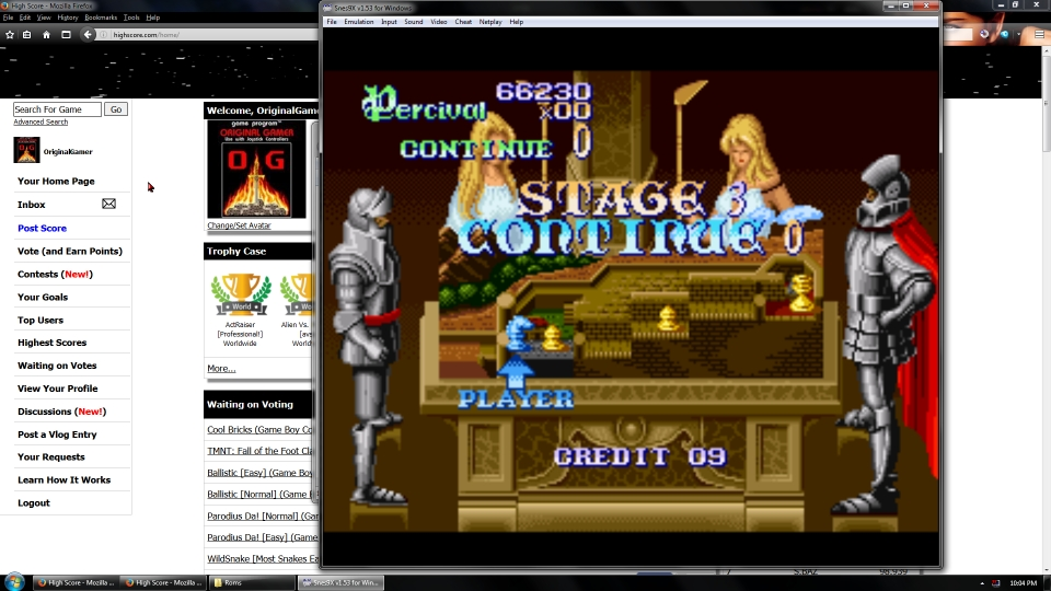 OriginalGamer: Knights of the Round [Easy] (SNES/Super Famicom Emulated) 66,230 points on 2016-07-15 16:01:55