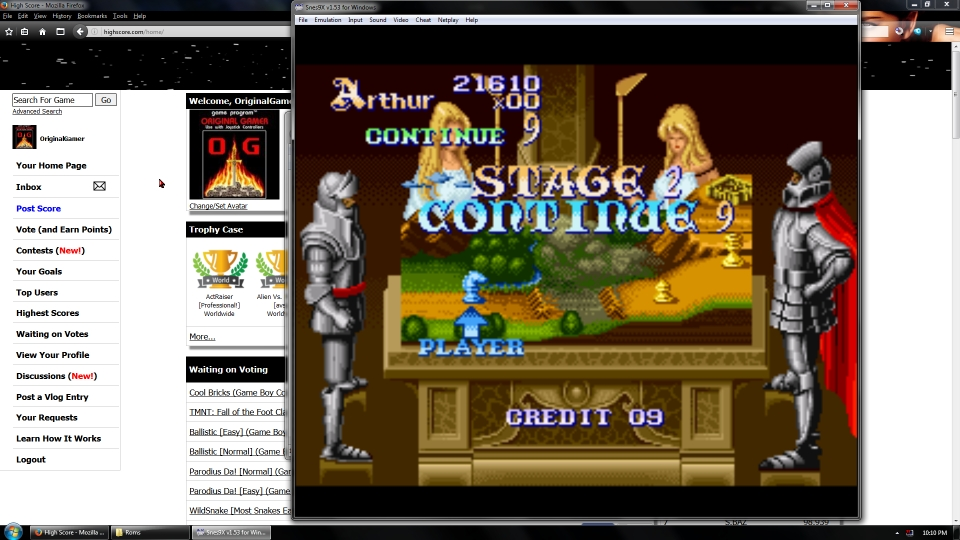 OriginalGamer: Knights of the Round [Normal] (SNES/Super Famicom Emulated) 21,610 points on 2016-07-15 16:00:33