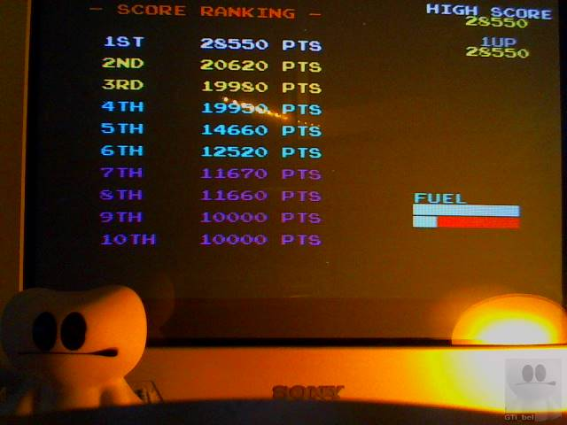 GTibel: Konami Arcade Classics: Scramble (Playstation 1) 28,550 points on 2018-12-06 08:56:45