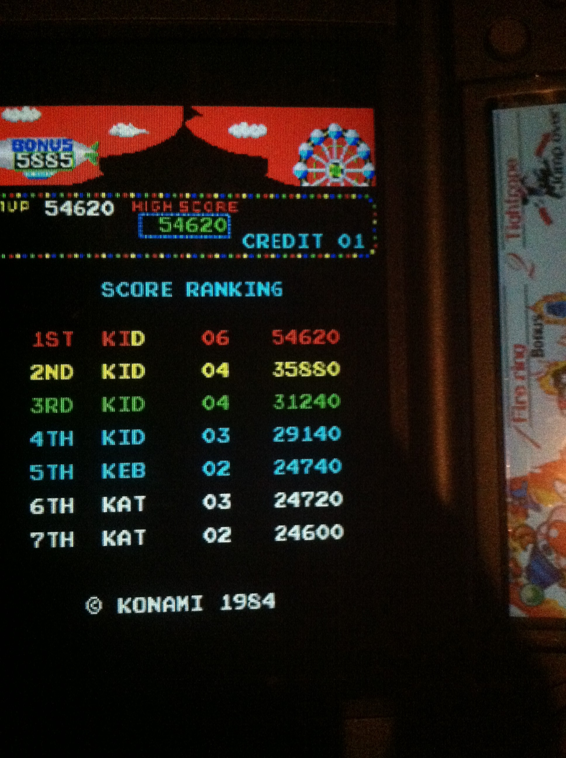 DakotaKid: Konami Classics Series: Arcade Hits: Circus Charlie (Nintendo DS) 54,620 points on 2017-09-14 22:16:42
