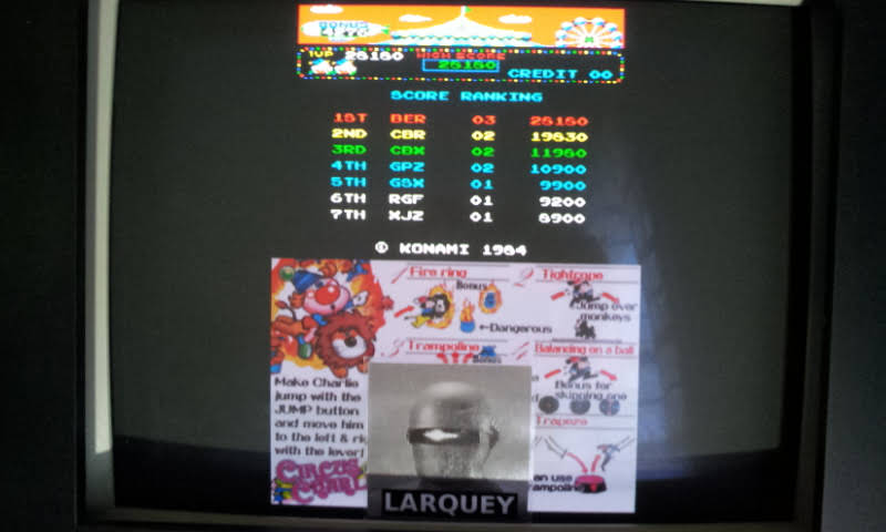 Larquey: Konami Classics Series: Arcade Hits: Circus Charlie (Nintendo DS Emulated) 28,180 points on 2018-07-12 09:49:24