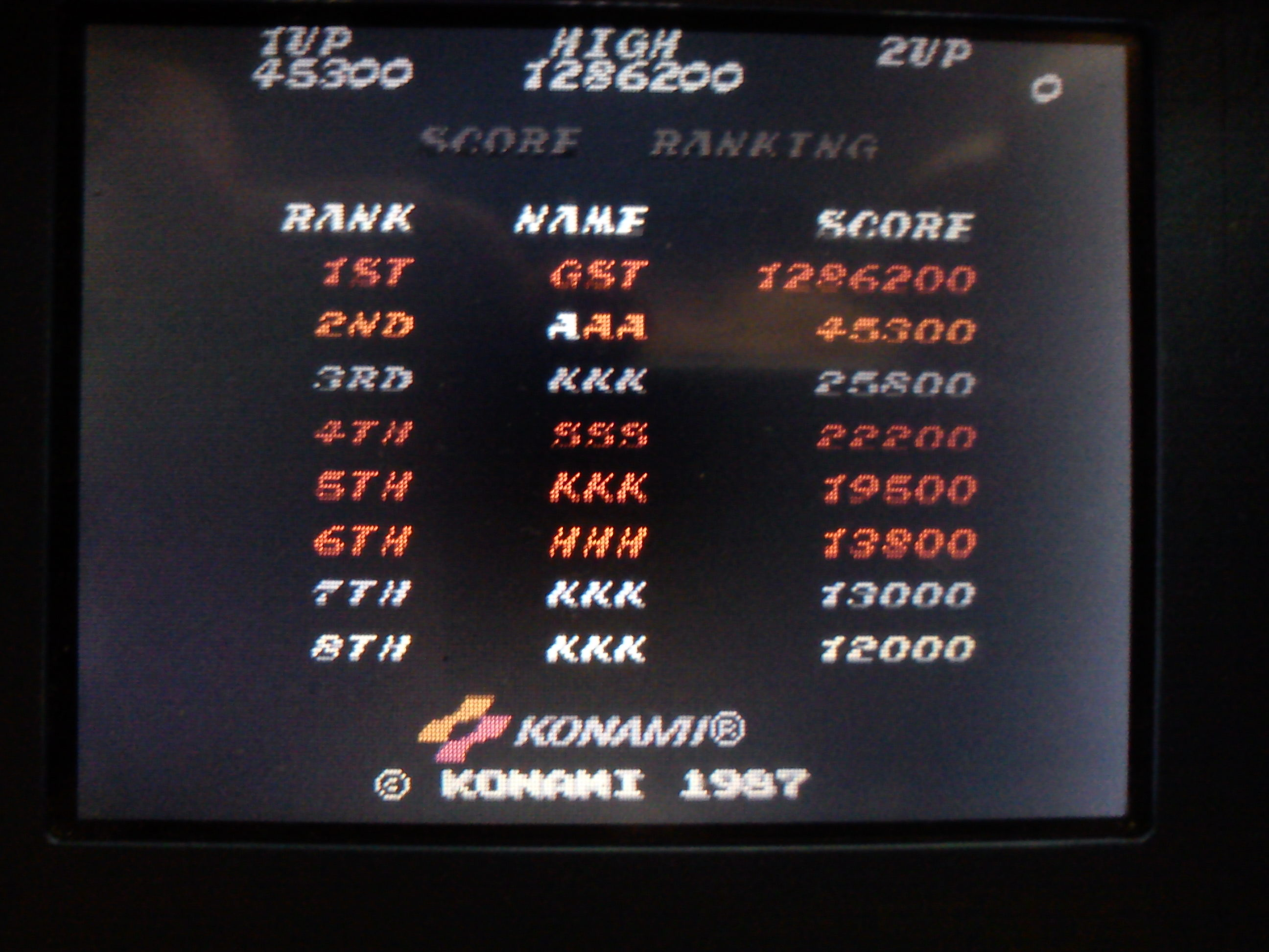 Gustlik: Konami Classics Series: Arcade Hits: Contra / Gryzor (Nintendo DS) 1,286,200 points on 2018-02-06 17:59:41