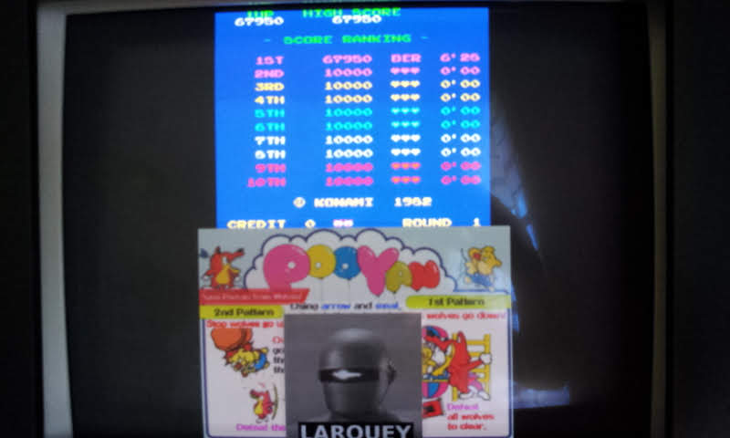 Larquey: Konami Classics Series: Arcade Hits: Pooyan (Nintendo DS Emulated) 67,950 points on 2018-07-12 05:42:30