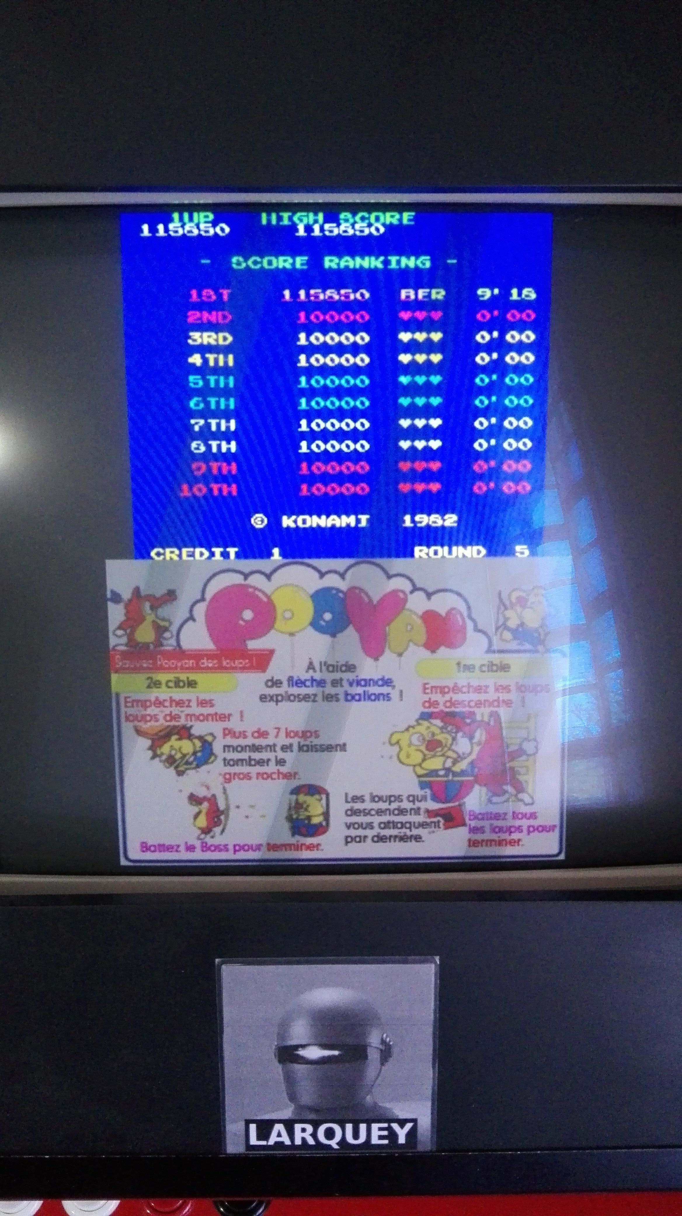 Larquey: Konami Classics Series: Arcade Hits: Pooyan (Nintendo DS Emulated) 115,850 points on 2019-06-16 05:49:02