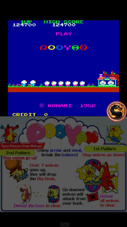 omargeddon: Konami Classics Series: Arcade Hits: Pooyan (Nintendo DS Emulated) 124,700 points on 2019-06-17 01:53:26