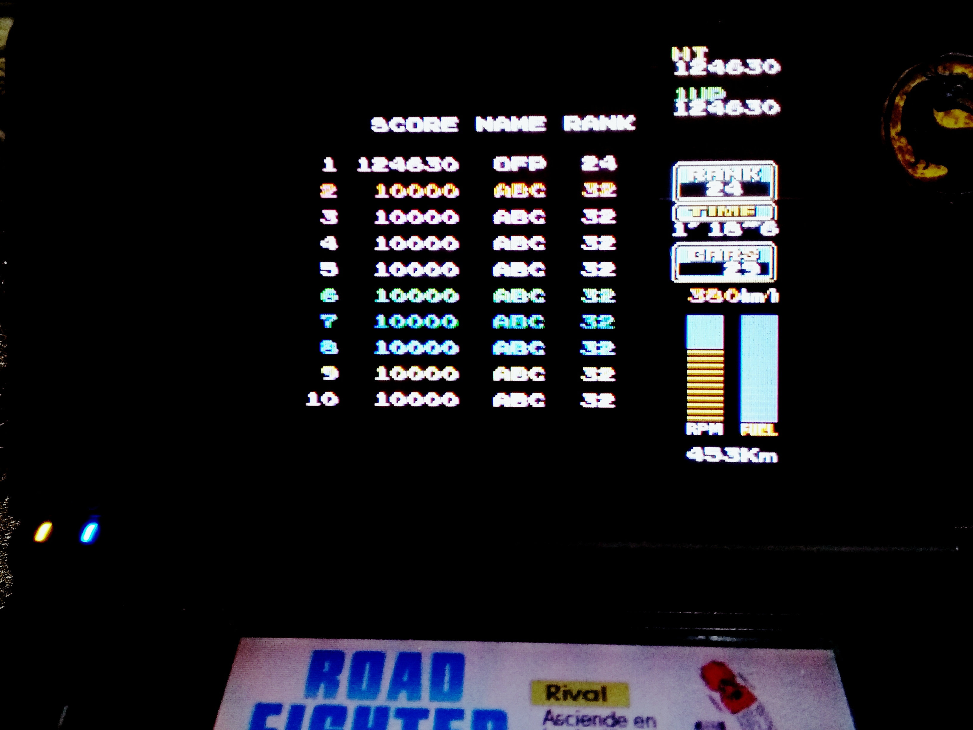 omargeddon: Konami Classics Series: Arcade Hits: Road Fighter (Nintendo DS) 124,630 points on 2020-08-09 18:52:23