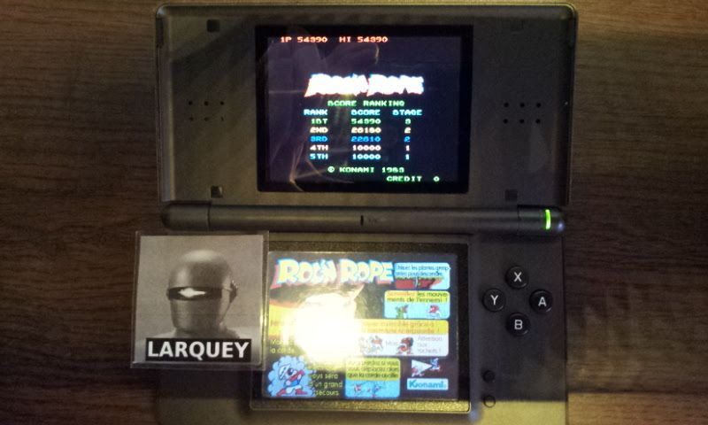 Larquey: Konami Classics Series: Arcade Hits: Roc N Rope (Nintendo DS) 54,390 points on 2017-10-12 11:46:20