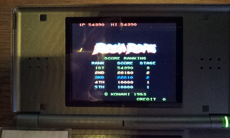 Konami Classics Series: Arcade Hits: Roc N Rope 54,390 points