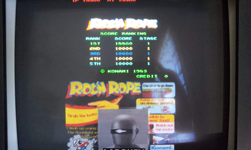Konami Classics Series: Arcade Hits: Roc N Rope 18,860 points