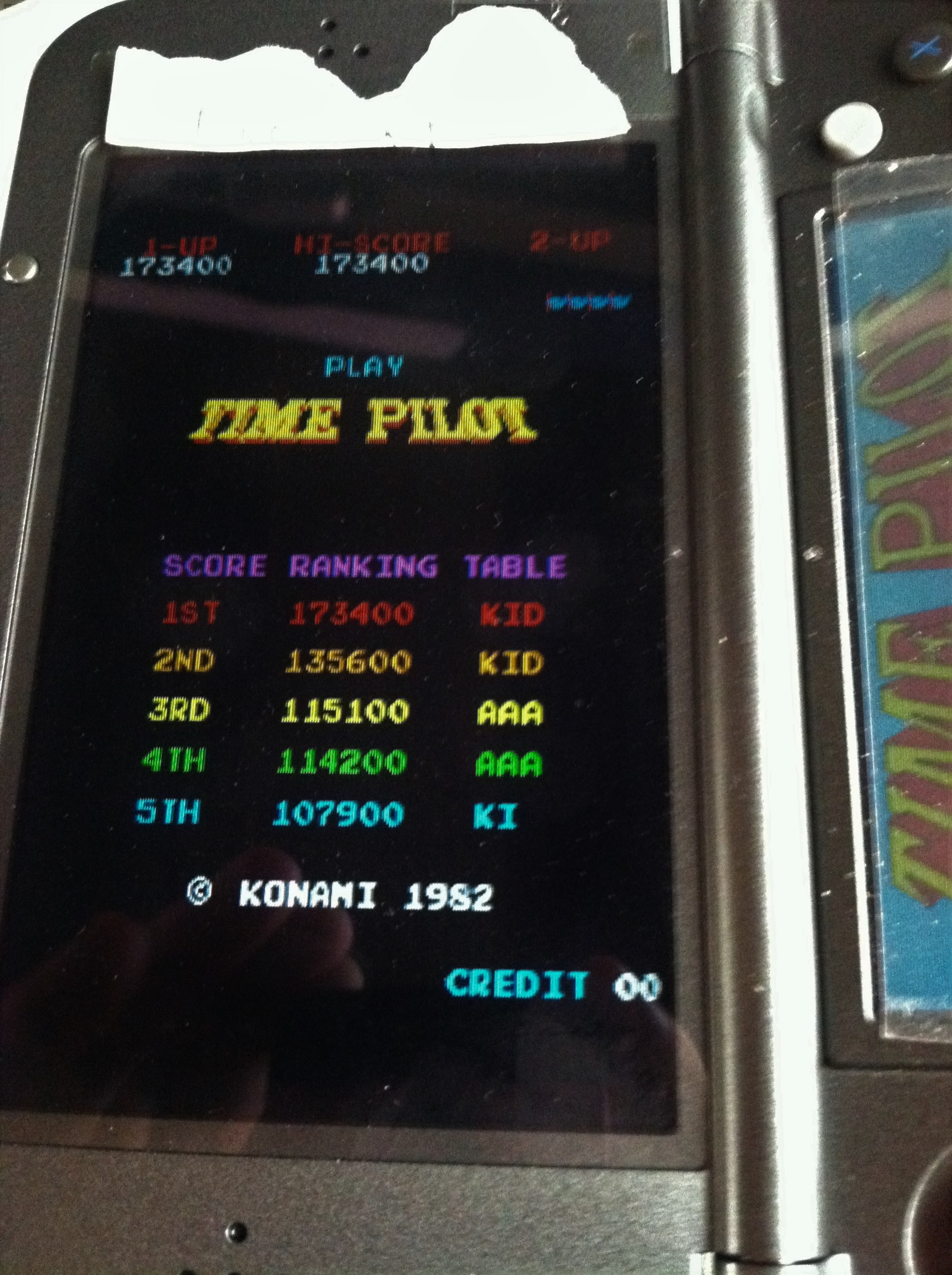 Konami Classics Series: Arcade Hits: Time Pilot 173,400 points