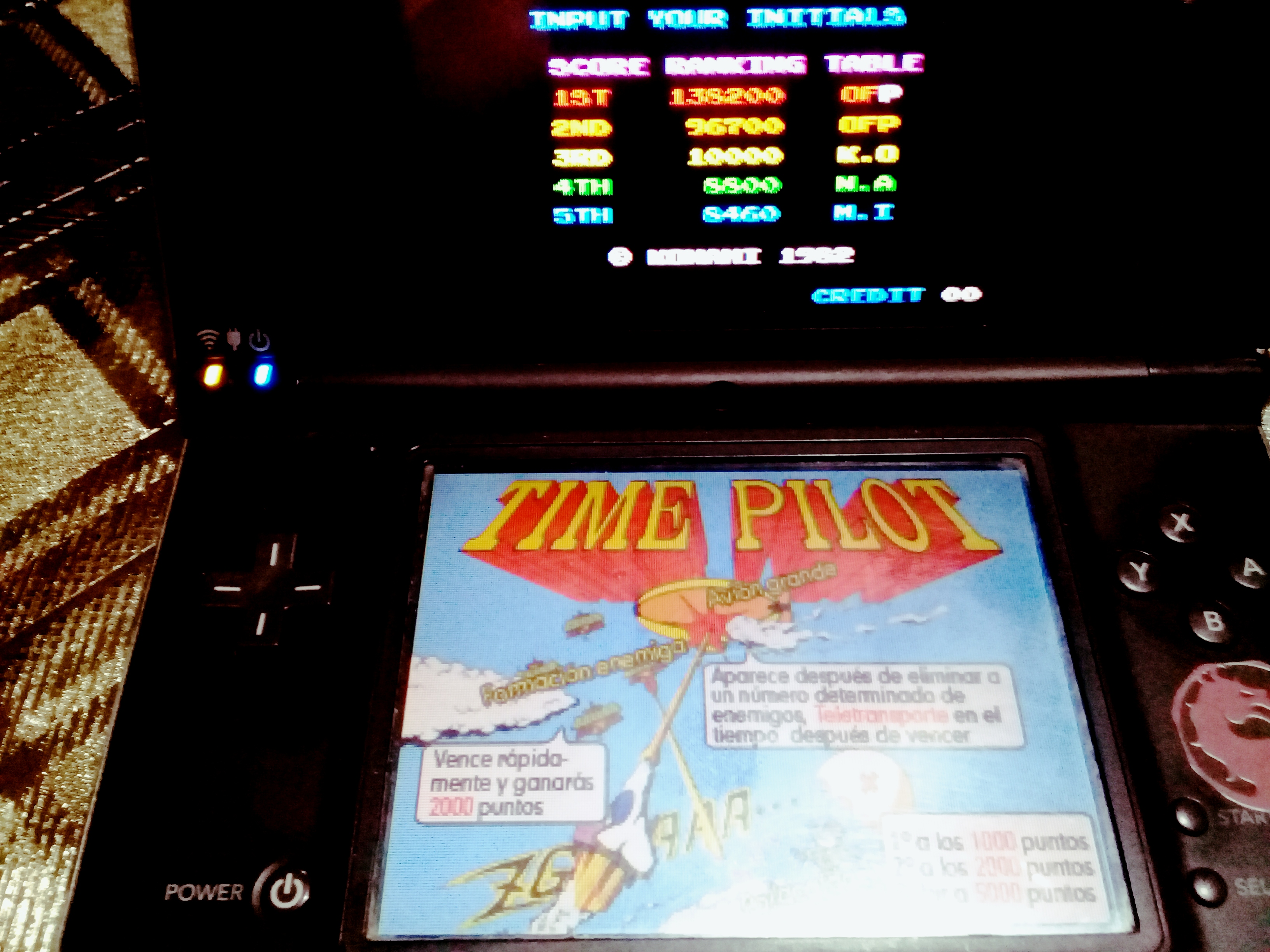 omargeddon: Konami Classics Series: Arcade Hits: Time Pilot (Nintendo DS) 138,200 points on 2020-08-09 18:30:54