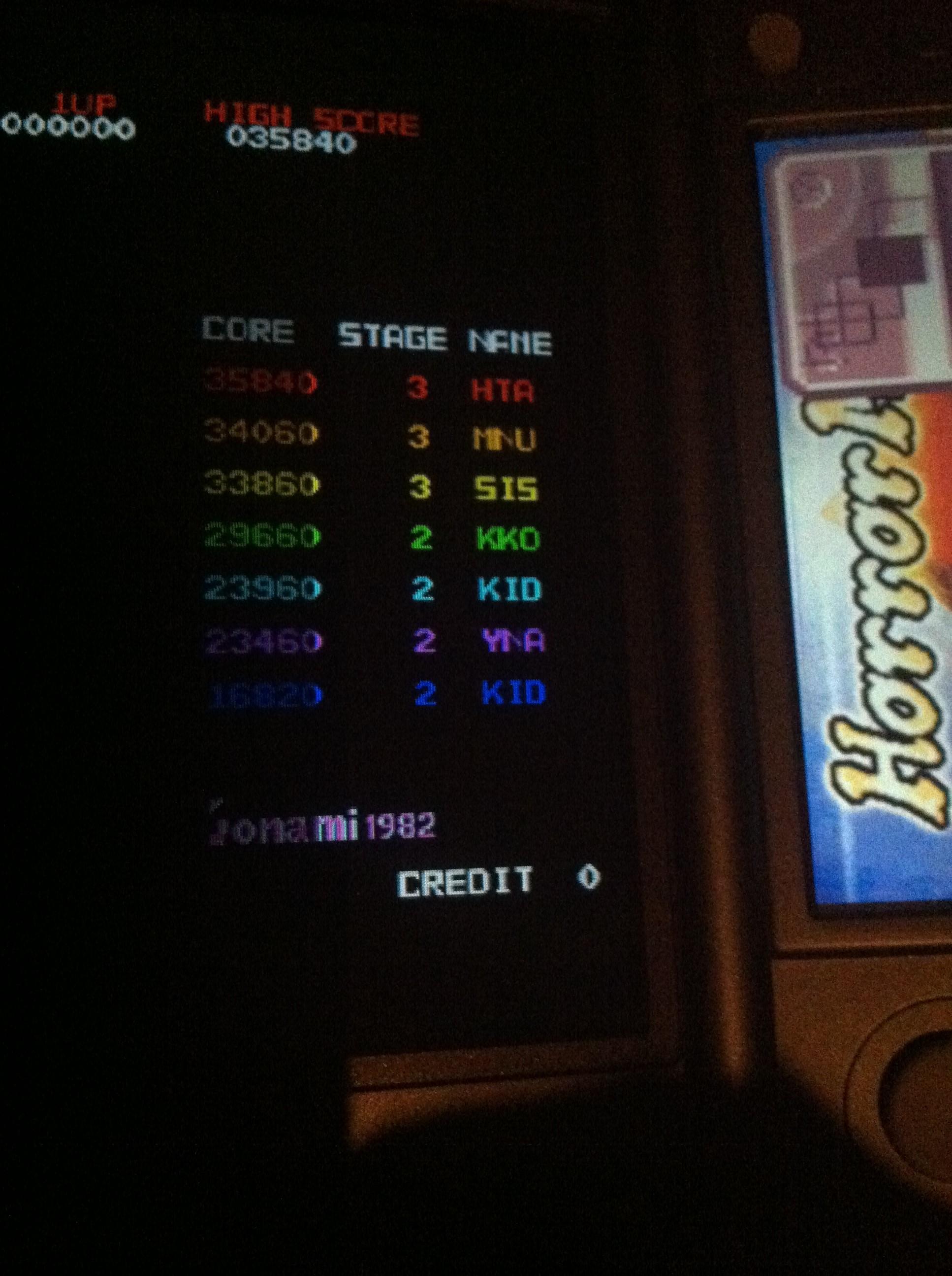 Konami Classics Series: Arcade Hits: Tutankham / Horror Maze 23,960 points