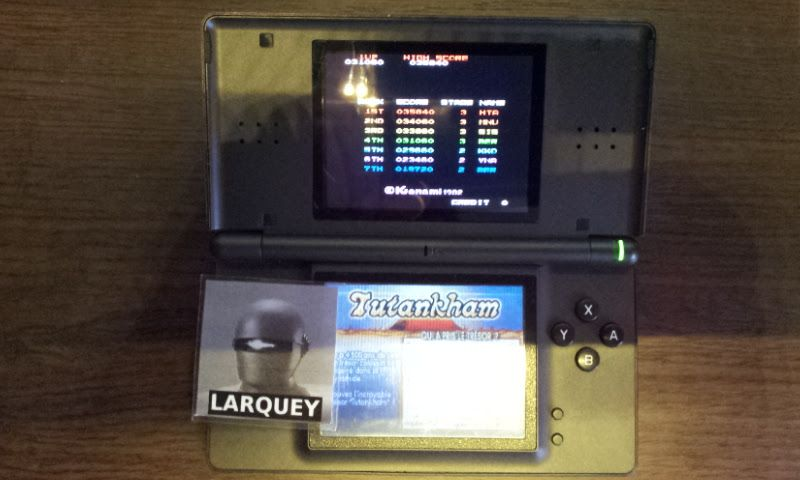 Larquey: Konami Classics Series: Arcade Hits: Tutankham / Horror Maze (Nintendo DS) 31,060 points on 2017-10-14 14:52:48