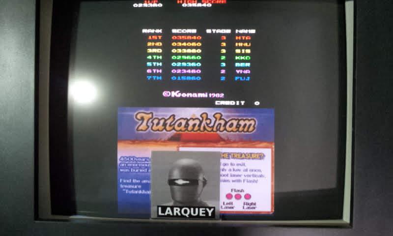 Larquey: Konami Classics Series: Arcade Hits: Tutankham / Horror Maze (Nintendo DS Emulated) 29,360 points on 2018-07-12 10:26:30