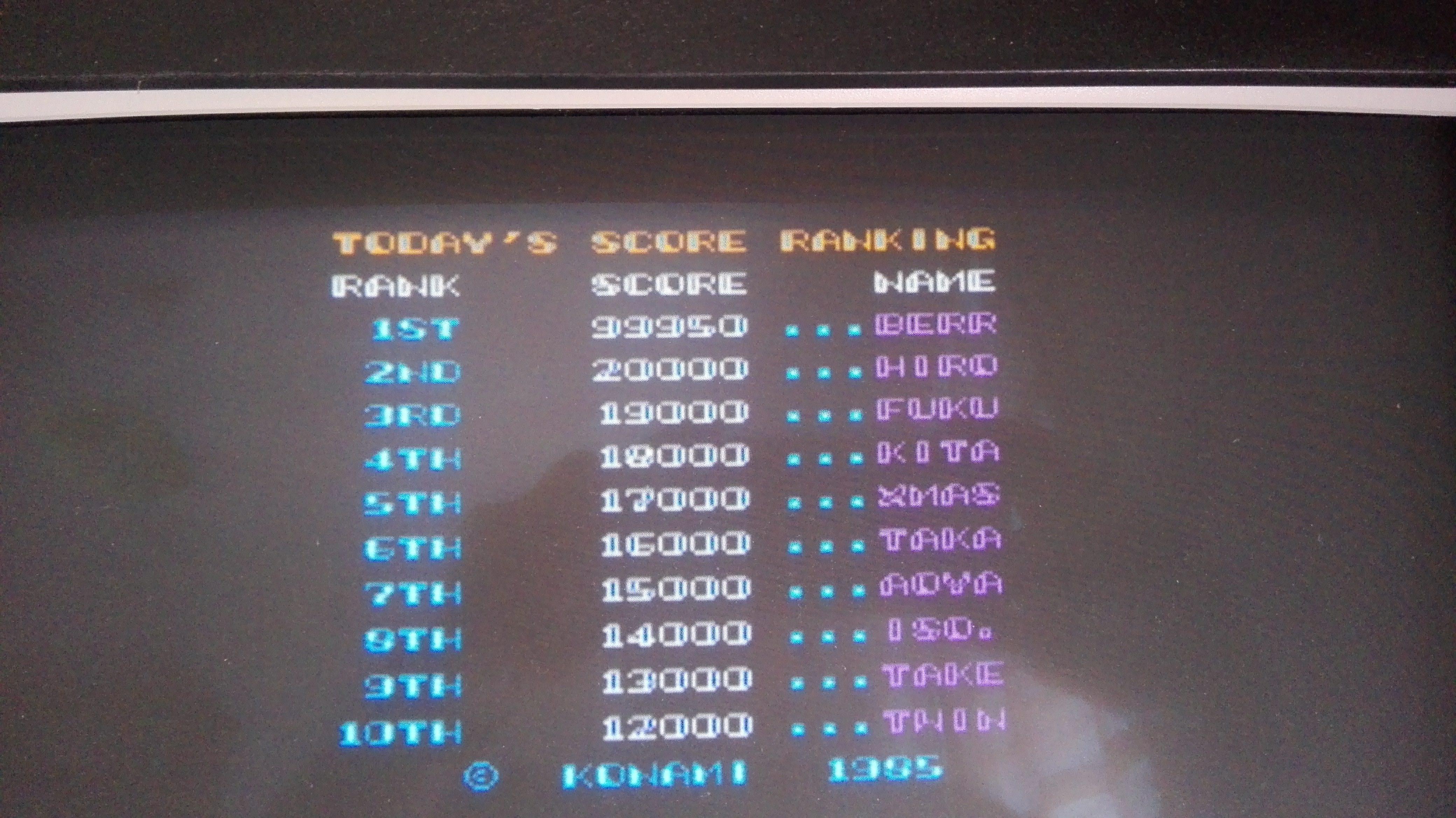 Konami Classics Series: Arcade Hits: Twinbee 99,950 points