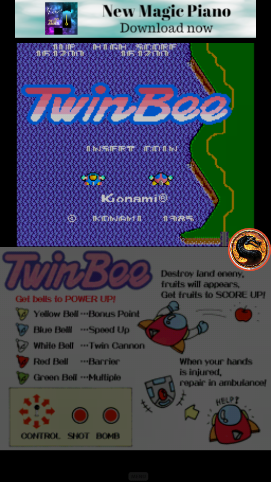 omargeddon: Konami Classics Series: Arcade Hits: Twinbee (Nintendo DS Emulated) 161,200 points on 2019-06-16 17:11:43