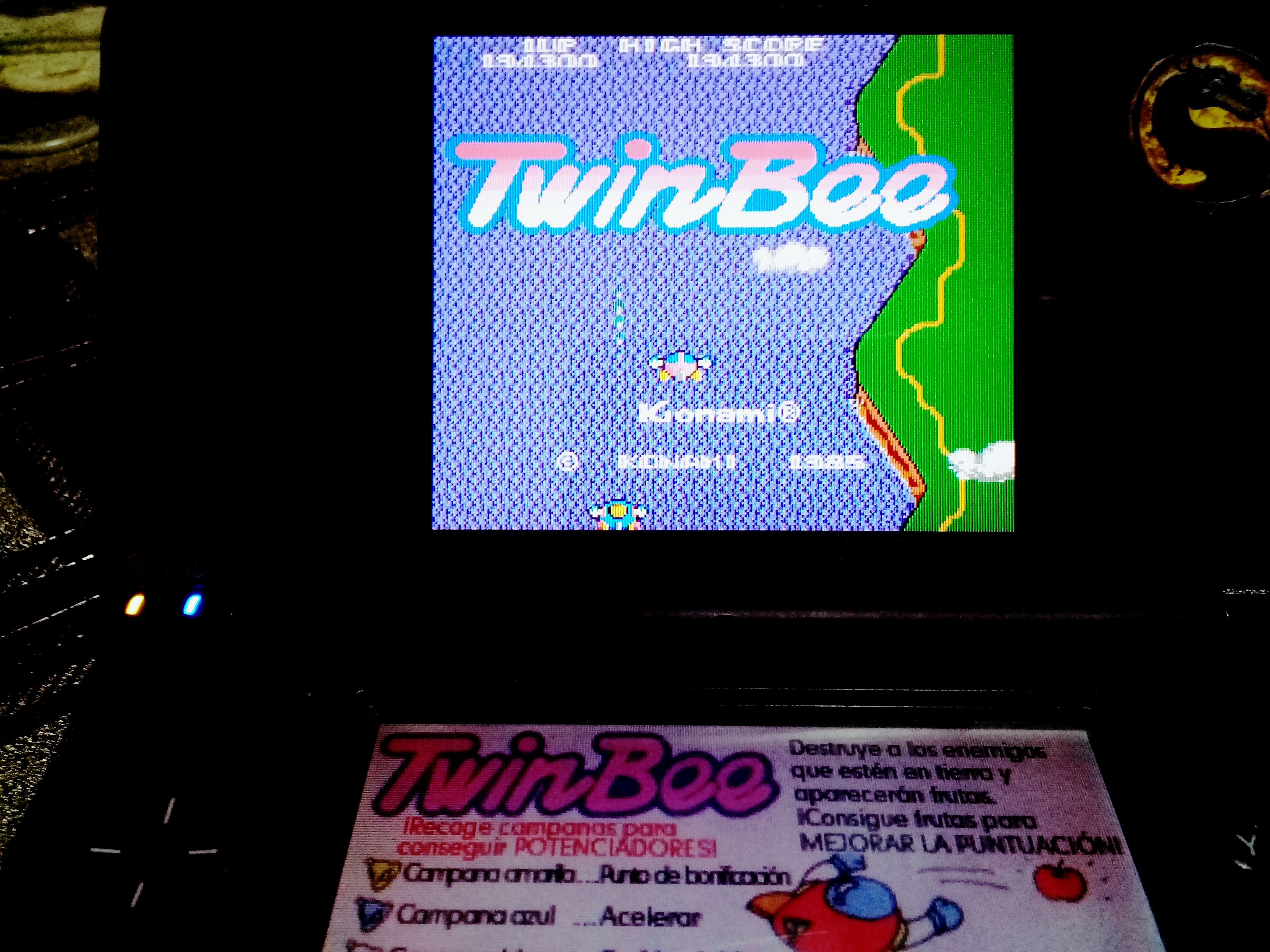 omargeddon: Konami Classics Series: Arcade Hits: Twinbee (Nintendo DS) 194,300 points on 2020-08-09 18:40:36
