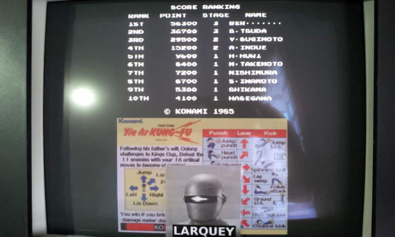 Konami Classics Series: Arcade Hits: Yie Ar Kung-Fu 56,300 points
