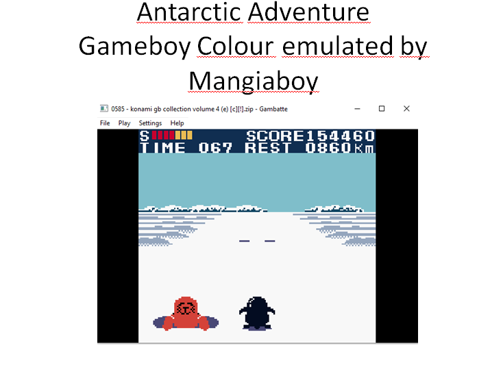 MangiaBoy: Konami GB Collection Vol. 4: Antarctic Adventure (Game Boy Color Emulated) 154,460 points on 2015-12-26 20:39:37