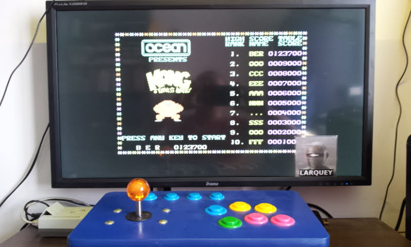 Larquey: Kong Strikes Back (Commodore 64 Emulated) 123,700 points on 2018-08-18 10:35:22