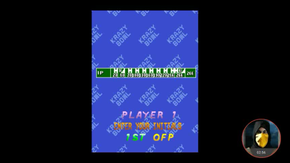 omargeddon: Krazy Bowl (Arcade Emulated / M.A.M.E.) 266 points on 2018-02-03 19:31:26
