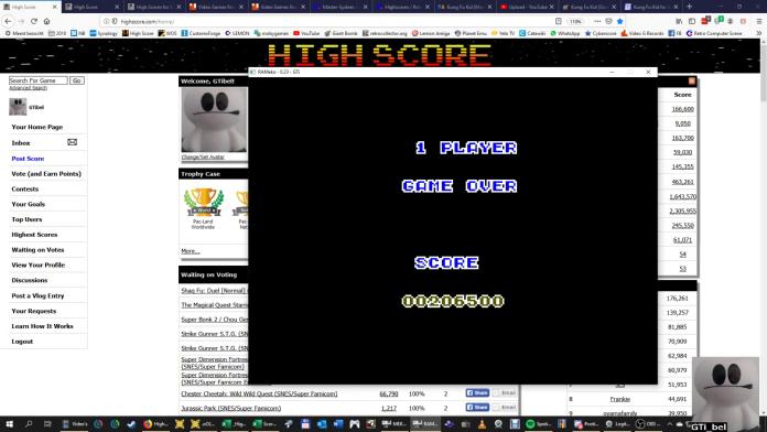 GTibel: Kung Fu Kid (Sega Master System Emulated) 206,500 points on 2019-10-01 12:10:43