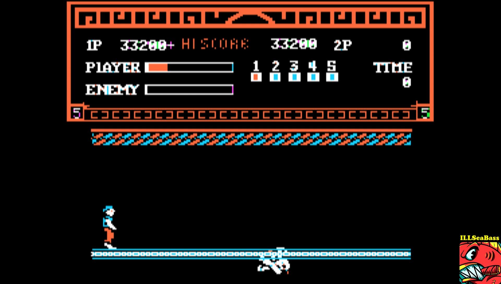ILLSeaBass: Kung Fu Master (Apple II Emulated) 33,200 points on 2017-02-23 00:24:05