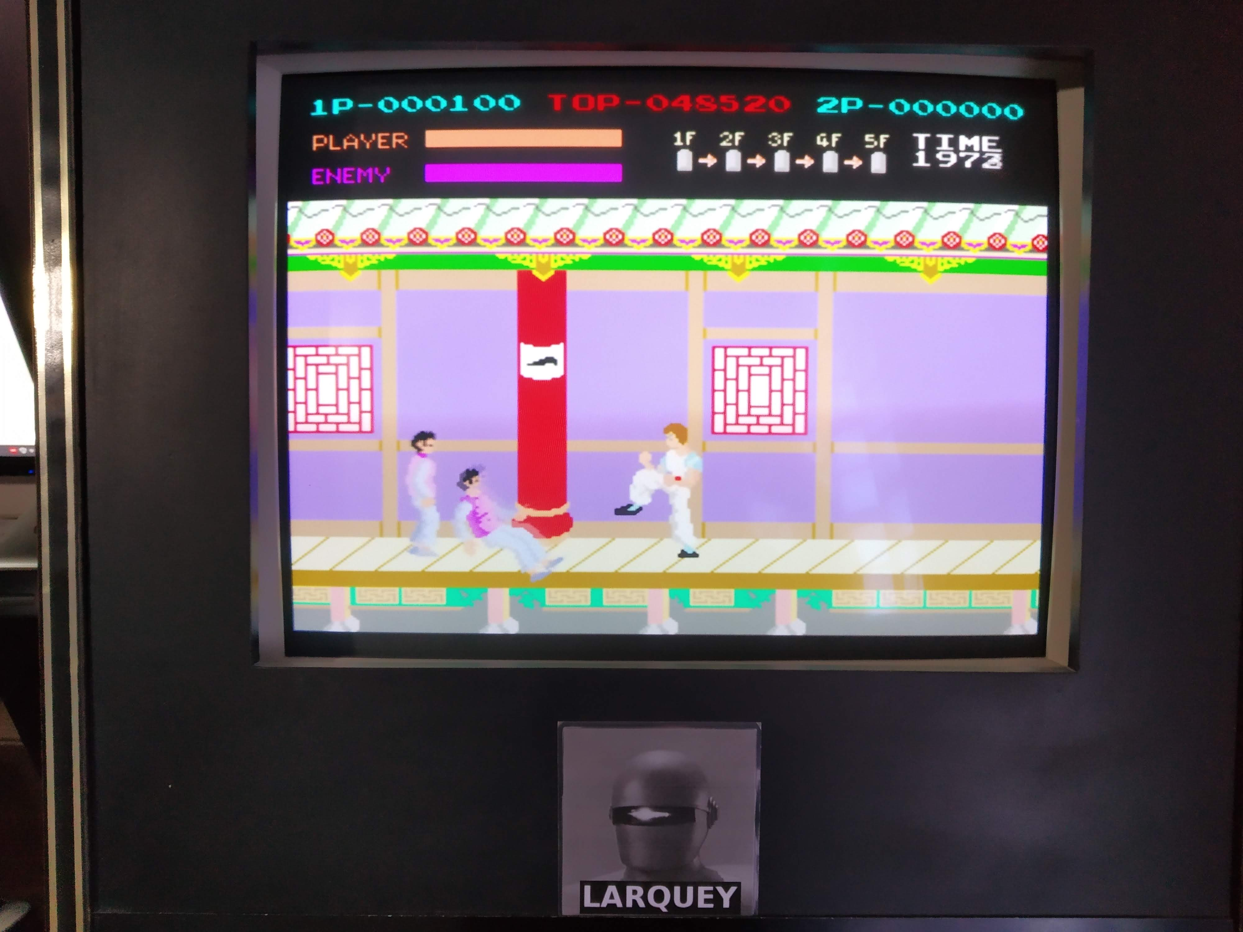 Larquey: Kung Fu Master (Arcade Emulated / M.A.M.E.) 20,700 points on 2019-09-08 12:46:17
